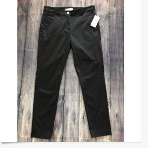 Michael Kors Black Side Slit Slim Ankle Pants